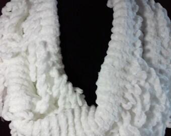 White Wool Scarf 80''