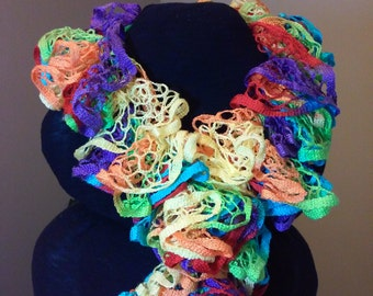 Multi-color handmade scarf