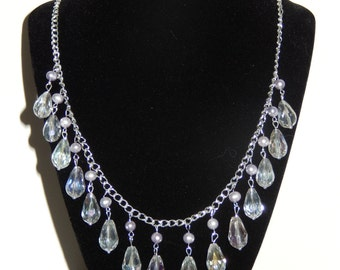 Freshwater Pearl and Crystal Bead Necklace