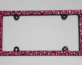 Multi-Pink License Plate Frame