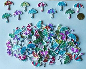 Wooden Umbrella Buttons x 8