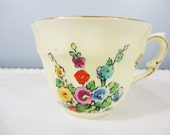 Crown Staffordshire Hollyhock Bone China Tea Cup