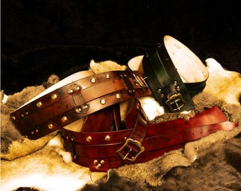 leather armor hero belt design larp armour