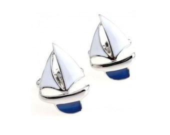 Sailing boat cufflinks