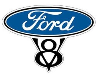 Small Ford V8 Crest T Shirt Mens T Shirt 18146E9