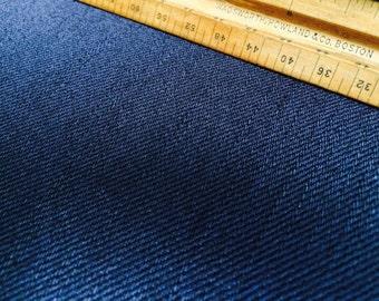 Dark Navy Indigo Denim Fabric BTY   (Dead-Stock)    White Oak