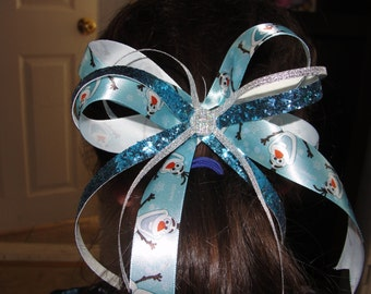 Disney Frozen Hair Bow, Disney Frozen, Olaf, Anna, Elsa, Disney World, Hair Bow, Children's  Accessory
