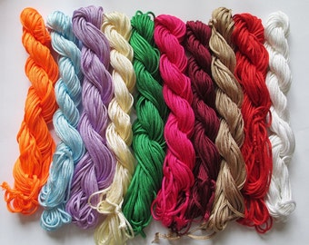 10 x 12 m wire 2mm braided nylon blend color