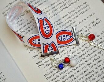 Canadien hockey team pearls bookmark