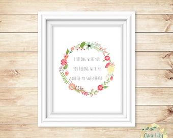 Lumineers Song Lyric A4 Poster Printable