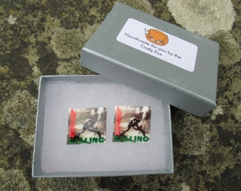 The Clash - London Calling Album Cover Cuff Links / Stud Earrings