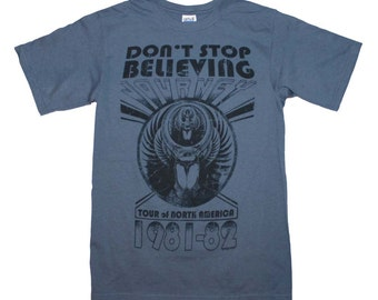 Journey Don't Stop Believing Event T-Shirt Sz. S-M-L-XL 100% Cotton New Rock Tee