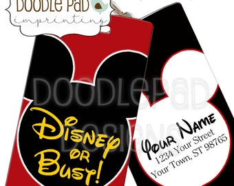 Disney Luggage Tag, Personalized Mickey Mouse Bag Tag