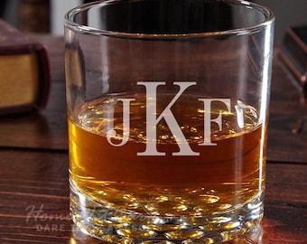 Buckman Classic Monogram Whiskey Glass - Housewarming Gifts