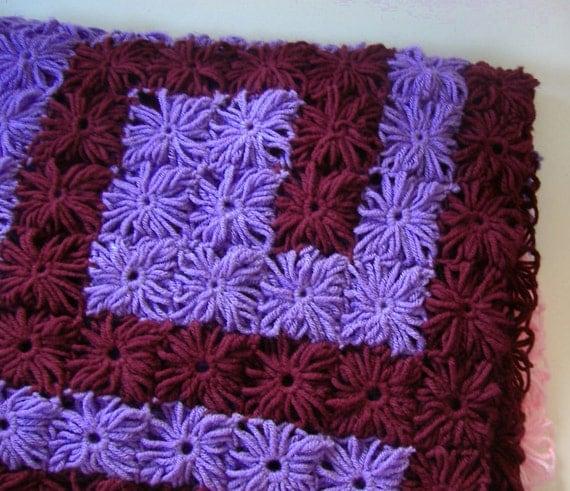 Loom Knit Afghan Pattern : Rosette Afghan Rosette Knitting Loom Pop-off Rosette Afghan