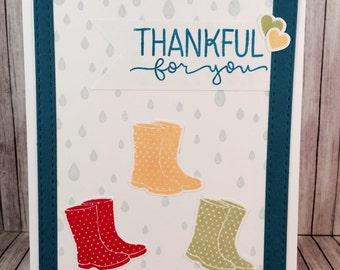 Rain Boots Thanks