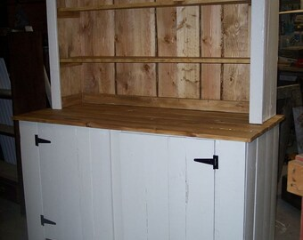 Reclaimed wood buffet and hutch
