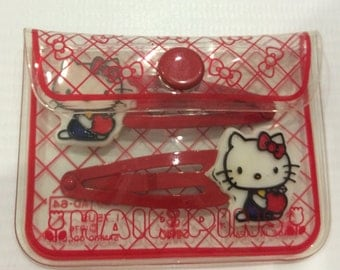 Vintage Hello Kitty Sanrio hair pins made in Japan
