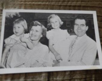 NIXON and FAMILY PHOTOGRAPH Postcard