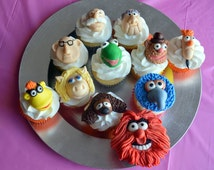 Muppet Cupcake Toppers (100% Edible)