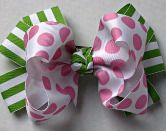 Large Stacked Boutique Bow