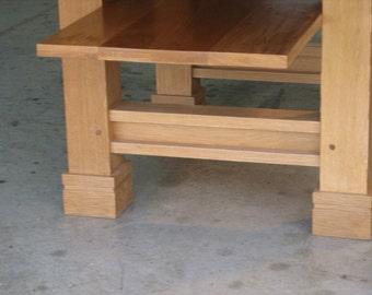 Prairie Style Dinng Table