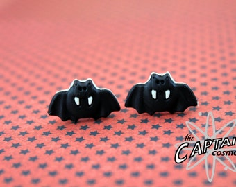 Bat plugs for gauged ears 3mm 8G Halloween gauges