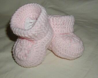 Hand Crochet Baby Booties 0-6 Months