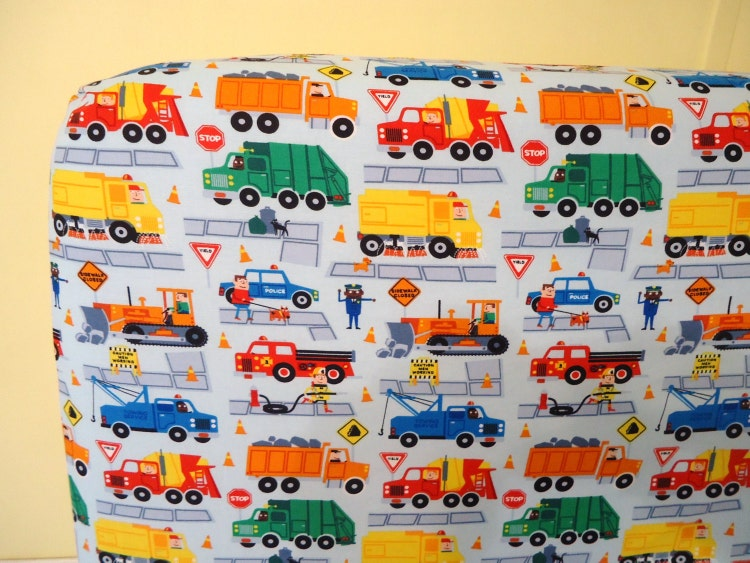 Crib Sheet Baby Boy Fitted Toddler Construction By Nowfabrics