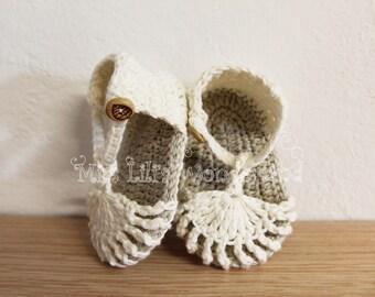 Crochet baby sandals,Handmade baby shoes, Spring Summer White Green, Sandalini, Scarpine, Uncinetto