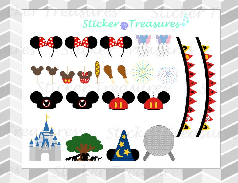 Disney Kit Planner Stickers By StickerTreasures On Etsy