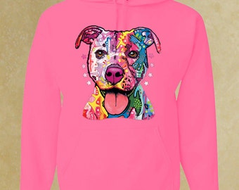 Pit-bull Hoodie. animal lover. gift for him, her.