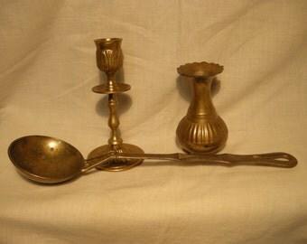 Vintage 1970's Brass Set
