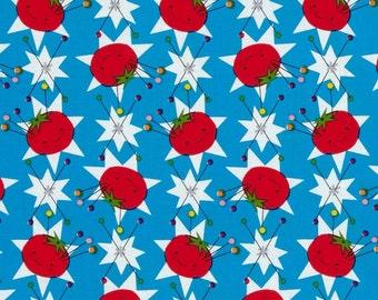 Sew  Yummy Cloud 9 Fabrics Pincushions Organic Cotton Fabric Blue
