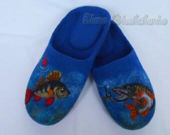 Fish Slippers Etsy