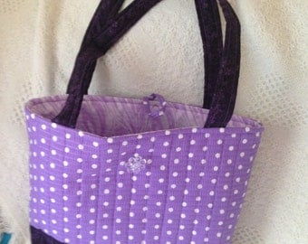 Purple and textured bag