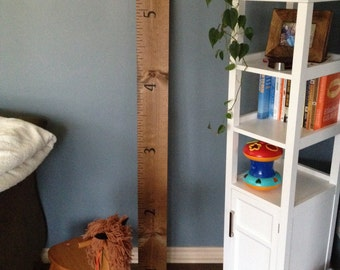 Hand painted growth chart ruler