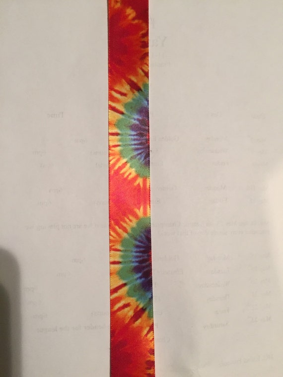 tie dye ribbon sold by the yard by theribbonkitchen on