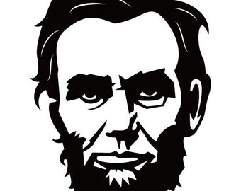 ID: SP00009; Lincoln Face Vinyl Decal, Sticker