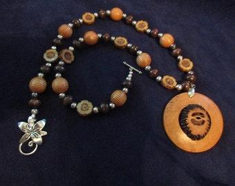 Black Walnut Necklace Set
