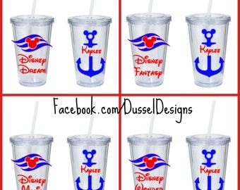 Disney Cruise Line Tumbler - Personalized Cruise Tumbler