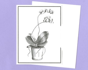 Orchid Plant Greeting Card