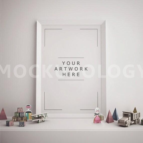 vertical white frame mockup poster mockup styled mockup digital frames framed art wall art toys mockupdesk mockupinstant download - White Poster Frame