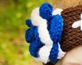 Crochet Flower Add on for Football Ear Warmer