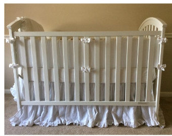 Crib Bedding sets. Crib bumper, Crib skirt,  and crib sheet.  gender neutral baby bedding