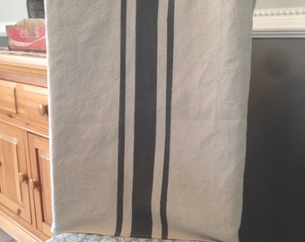 Chair Back Cover in Grain Sack Stripes Rustic
