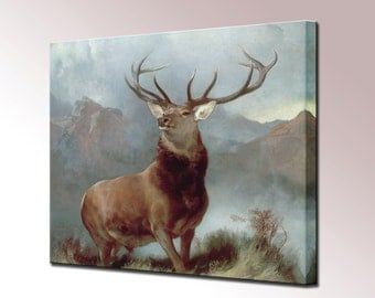 Monarch of the Glen Canvas Wall Art Print Picture Framed Ready Hang Home decor