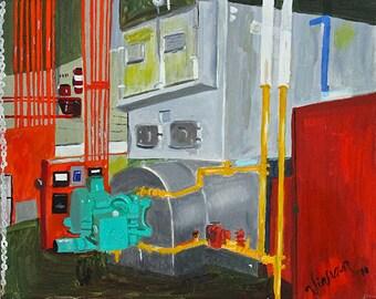 "Art Print Poster - ""Boiler Room Series - Silver"""