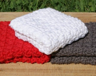 Cotton Diahcloths- Set of Three- Be Bold