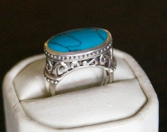 One of a kind Turquoise Silver Ring
